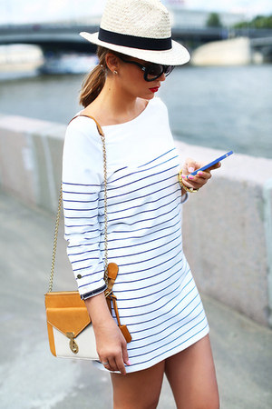 Bershka dress - H&M hat - Celine bag - Chanel sunglasses