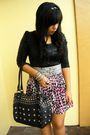 Black-tomato-top-gray-people-are-people-belt-white-factory-outlet-skirt-bl