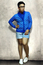 Blue-subtlety-cardigan-blue-apple-seed-shirt-white-traffic-shoes