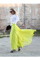 yellow maxi unknown brand skirt