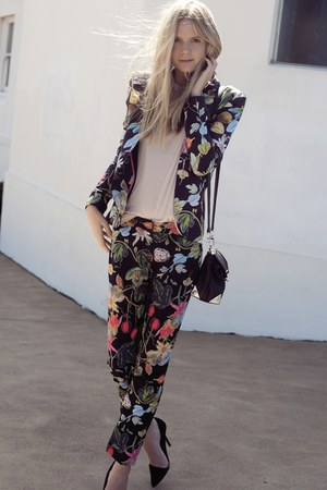 black floral unknown brand suit