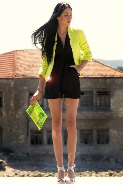 yellow neon Top Shop blazer
