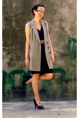 XOXO dress - Glamorosa blazer - Aldo shoes - vintage necklace - vintage bracelet