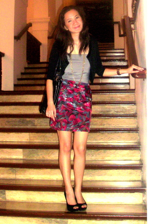 Glamorosa blazer - Jaciendera skirt - Jaciendera top - Aldo shoes