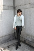 ivory zip-up knit Folder21 jacket