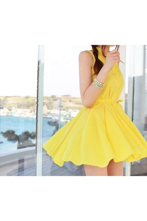 yellow Cherryville dress