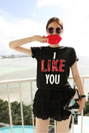 black Partysu t-shirt