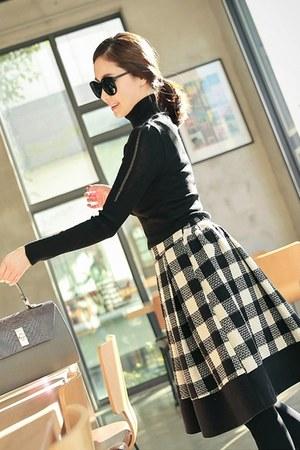 gingham a-line mayblue skirt - mayblue top