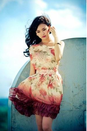 ivory floral dress dress