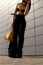 nude maison martin margiela bodysuit - black jeffrey campbell lita shoes