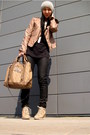 Black-marc-jacobs-shirt-dark-khaki-bebe-jacket-guess-bag-black-zara-pants