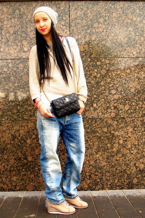 blue boyfriend G-Star jeans - gold sequin Splendid sweater
