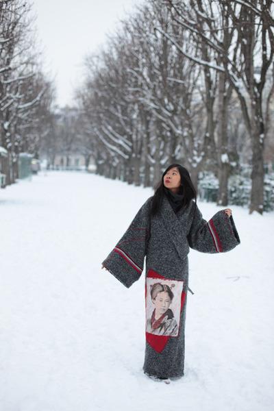 kimono Christine Nietche coat