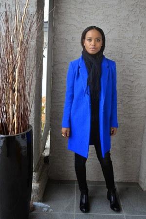 blue wool Fovever21 coat