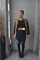 black Zara dress - army green Mango jacket