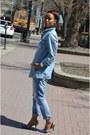 Sky-blue-denim-levis-jacket-blue-c-label-heels