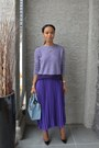 Light-purple-joe-fresh-sweater-violet-aliceandolivia-skirt
