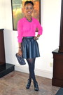 Black-boots-black-skirt-hot-pink-blouse