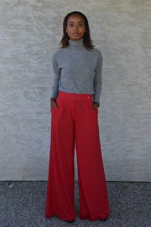 red Mango pants - heather gray Zara top