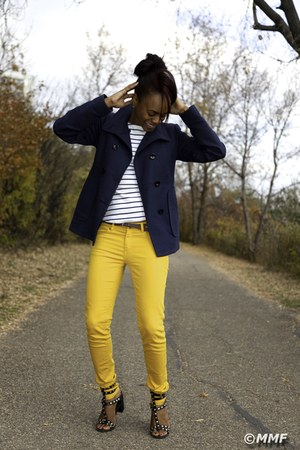 navy blue Mango coat