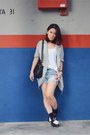Blue-random-from-bangkok-blazer-dark-gray-swatch-watch-white-zara-t-shirt