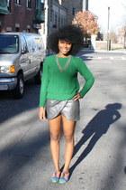 Zara skirt - Zara sweater - asoscom loafers - Macys necklace