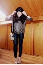 Zara jumper - Bimba y Lola bag - Stradivarius pants - Zara heels