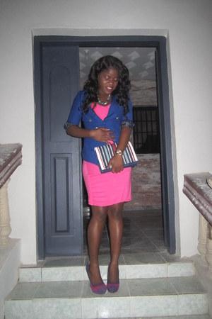 blue random brand blazer - striped suede Charlotte Russe shoes