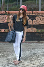 White-zanadi-jeans-black-london-fog-bag-black-olive-lane-t-shirt