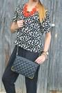 Black-daisy-floral-marshalls-top-black-jumpsuit-579-pants