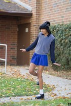 blue Prince skirt - white Target socks - heather gray sweater vest unkown vest