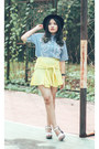 White-fly-shoes-sky-blue-ask-shirt-light-yellow-ask-skirt