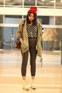 White-platform-boots-army-green-parka-choies-jacket-black-polka-dot-top