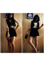vest - sweater - skirt - accessories - shoes