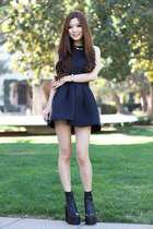 black Jeffery Campbell boots - black Morphologie dress