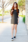 Dark-gray-sweater-dress-brandy-melville-dress
