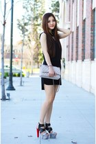 black heels C-Label shoes - black basic madewell dress