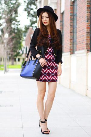 blue Charlotte Russe bag - brick red prints Charlotte Russe dress