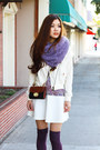 White-winter-diesel-jacket-light-purple-urban-outfitters-scarf