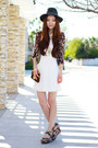 Ivory-lace-charlotte-russe-dress-black-floral-print-local-store-blazer