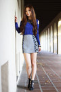 Blue-long-sleeve-forever-21-top-aztec-prints-morphologie-skirt
