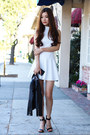White-simple-charlotte-russe-dress-black-ankle-strap-charlotte-russe-heels