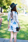 Black-floral-wedge-c-label-shoes-white-floral-persunmall-dress