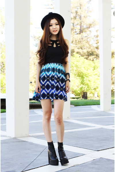 blue aztec Charlotte Russe dress