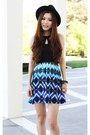 Blue-aztec-charlotte-russe-dress