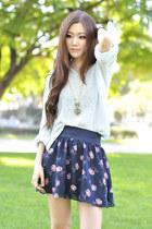 brandy melville sweater - floral skirt Forever 21 skirt