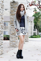 heather gray winter free people jacket - heather gray sweater H&M scarf