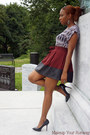 Heather-gray-worn-as-a-shirt-h-m-dress-crimson-leather-trim-skirt