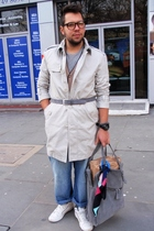pull&bearll jacket - vintage jeans - Zara shoes - H&M t-shirt - H&M Bag accessor