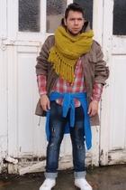 Zara jeans - vintage jacket - Primark scarf - new look shirt - Supremebeing shoe